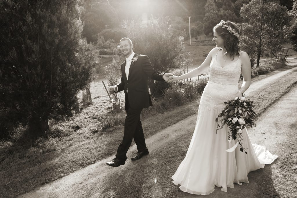 Farm wedding photo
