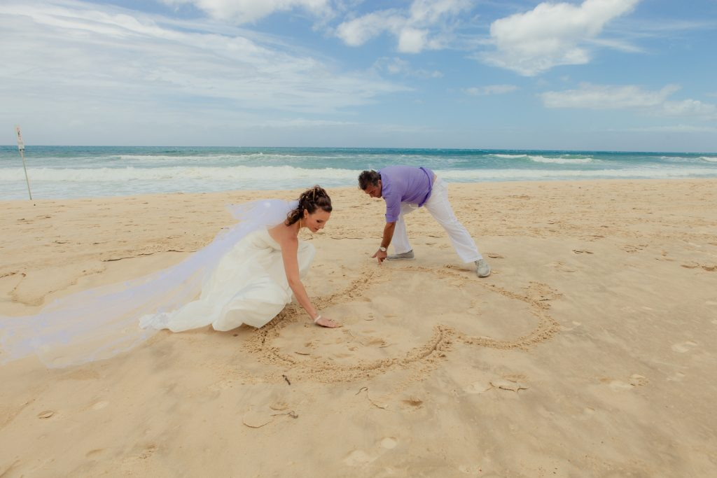 Gold Coast beach wedding photo