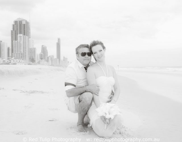 Gold Coast beach couple portrait