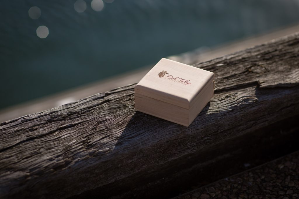 Luxury wooden usb wedding photography packaging