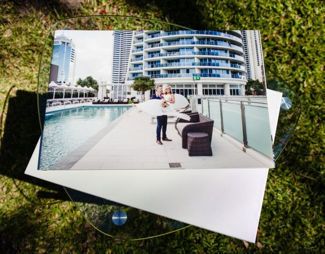 Wedding photo album Gold Coast photographer