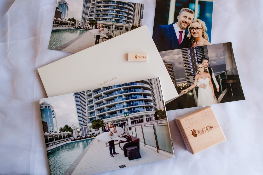 Gold Coast wedding photography package presentation